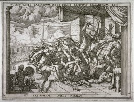 Taitius is Killed, Romulus Reigns as Sole Monarch of the Romans and the Sabines, pl. 24 from the series The Story of Romulus and Remus