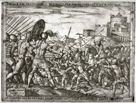 Romulus, Fighting the Sabines, Asks Jupiter For Help, pl.21 from the series The Story of Romulus and Remus