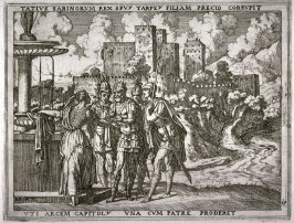 Taitius Persuades Tarpeia to Open the Gates of the Capitol, pl.19 from the series The Story of Romulus and Remus