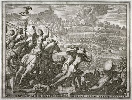 Acron Attacks Romulus, Losing His Arms and His Life, pl.13 from the series The Story of Romulus and Remus