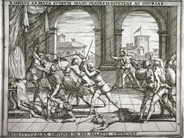 Romulus Rescues His Brothers, pl.5 from the series The Story of Romulus and Remus