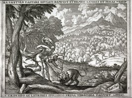 Romulus and Remus Brought up by the Shepherd Faustulus, pl.3from the series The Story of Romulus and Remus