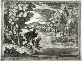 Romulus and Remus Exposed on the Tiber , pl .2 from the series The Story of Romulus and Remus