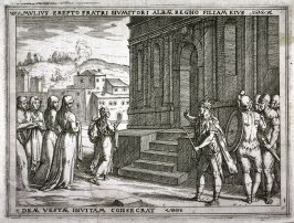Amulius Dedicates His Niece to the Goddess Vesta, pl.1 from the series The Story of Romulus and Remus