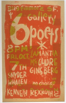 Poster for a Poetry Reading at the Six Gallery, October 7, 1955