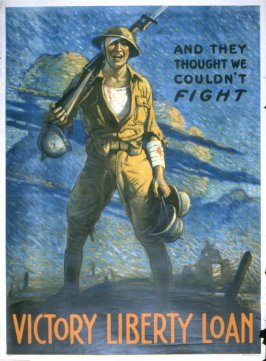 And They Thought We Couldn't Fight - World War I Poster