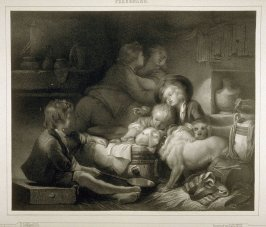 Les Enfant de Fermier..(The farmer's children)...twenty ninth plate in the bookj... [Title in Russian and French] Imperatorskaya Ermitazhnaya Galereya … Galérie Impériale de l'Ermitage (Saint Petersburg: Gohier Desfontaines, 1847)