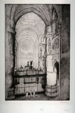 "Interior of Cathedral, Burgos, Spain (From ""Meine Spanische Reise"" acht. Radierungen)"