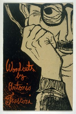 Woodcuts by Antonio Frasconi, catalogue cover for Smithsonian Institution Traveling Service 1953-1954