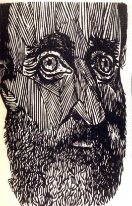 Untitled (close view of face), seventh plate in the book A Vision of Thoreau. With his 1849 essay: Civil Disobedience ([New York: Spiral Press, 1965])