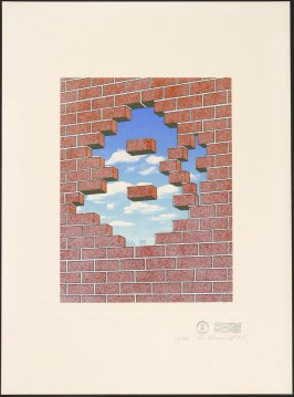 Untitled (Stamp with Brick Wall and Sky), May 17, 1971