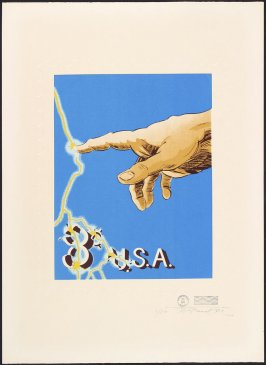 Untitled (Stamp with Hand, 8 cents USA), May 17, 1971