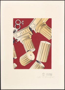 Untitled (Stamp with Broken Columns, 8 cents), May 17, 1971