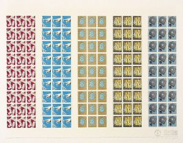 Untitled (Five Sets of Stamps), May 17, 1971