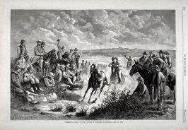 """""""Correr El Gallo""""- Sunday Sports in Southern California -from Harper's Weekly,  (March 3. 1877), p. 164"""