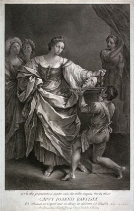 Salome with the head of John the Baptist. Matt. C.14.V.8