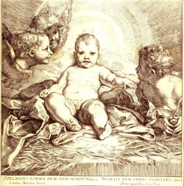 Infant Christ Adored by Angels