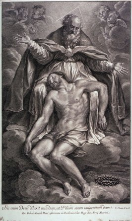 God the Father, mourning over Christ