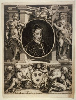 Pope Innocent XII, after Ludovicus David, engraved by Hubertus Vincent