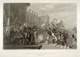 Napoleon gives eagles to the army
