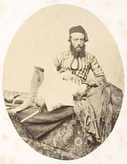 """""""Portrait: Turkish Summer Costume,"""" in the book Egypt and Palestine, 2 vols., by Francis Frith (London: James S. Virtue, 1858-1859); volume I of II"""