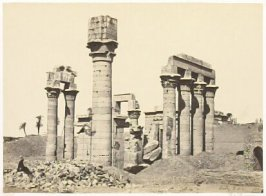 """Cleopatra's Temple at Erment,"" in the book Egypt and Palestine, 2 vols., by Francis Frith (London: James S. Virtue, 1858-1859); volume I of II"
