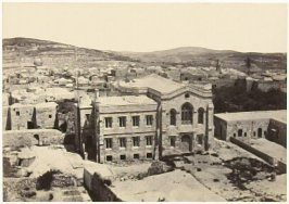 """""""Protestant Episcopal Church, &c. from the Tower of Hippicus,"""" in the book Egypt and Palestine, 2 vols., by Francis Frith (London: James S. Virtue, 1858-1859); volume I of II"""
