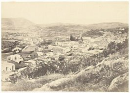 """Nazareth, from the North-West ,"" in the book Egypt and Palestine, 2 vols., by Francis Frith (London: James S. Virtue, 1858-1859); volume I of II"