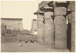 """View at Luxor, Thebes,"" in the book Egypt and Palestine, 2 vols., by Francis Frith (London: James S. Virtue, 1858-1859); volume I of II"