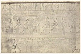 """Sculptures from the Outer Wall, Dendera,"" in the book Egypt and Palestine, 2 vols., by Francis Frith (London: James S. Virtue, 1858-1859); volume I of II"