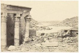 """""""View from the Island of Phiae,"""" in the book Egypt and Palestine, 2 vols., by Francis Frith (London: James S. Virtue, 1858-1859); volume I of II"""
