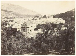 """""""Nablous, the Ancient Shechem"""" in the book Egypt and Palestine, 2 vols., by Francis Frith (London: James S. Virtue, 1858-1859); volume I of II"""