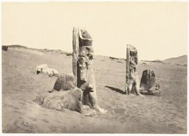 """Colossi and Sphynx at Wady Saboua, Nubia,"" in the book Egypt and Palestine, 2 vols., by Francis Frith (London: James S. Virtue, 1858-1859); volume I of II"
