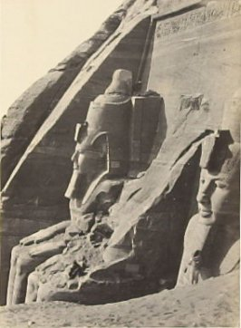"""Façade of the Great Temple at Abou Simbel,"" in the book Egypt and Palestine, 2 vols., by Francis Frith (London: James S. Virtue, 1858-1859); volume I of II"