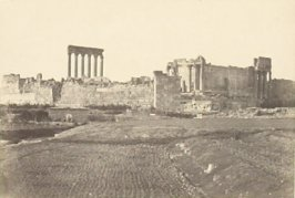 """Baalbec, General View from the South,"" in the book Egypt and Palestine, 2 vols., by Francis Frith (London: James S. Virtue, 1858-1859); volume I of II"