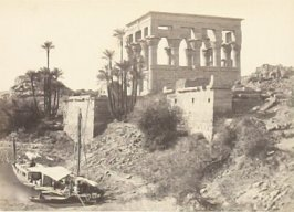 """"""" 'Pharaoh's Bed,' Island of Philœ,"""" in the book Egypt and Palestine, 2 vols., by Francis Frith (London: James S. Virtue, 1858-1859); volume I of II"""