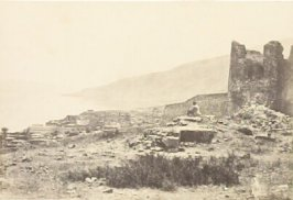 """""""The Town and Lake of Tiberias, from the North,"""" in the book Egypt and Palestine, 2 vols., by Francis Frith (London: James S. Virtue, 1858-1859); volume I of II"""