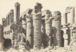 """The Hall of Columns, Karnac,"" in the book Egypt and Palestine, 2 vols., by Francis Frith (London: James S. Virtue, 1858-1859); volume I of II"