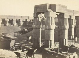 """Portion of the Great Temple, Luxor (The Government Corn Stores),"" in the book Egypt and Palestine, 2 vols., by Francis Frith (London: James S. Virtue, 1858-1859); volume I of II"
