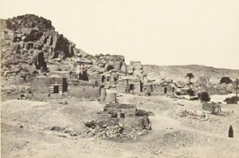 """Antiquities upon th eIsland of Biggeh, near Philae,"" in the book Egypt and Palestine, 2 vols., by Francis Frith (London: James S. Virtue, 1858-1859); volume I of II"