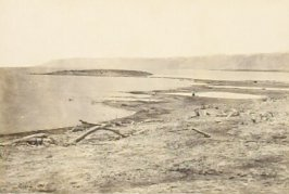 """""""The Northern Shore of the Dead Sea,"""" in the book Egypt and Palestine, 2 vols., by Francis Frith (London: James S. Virtue, 1858-1859); volume I of II"""