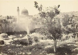 """The Mosque of Omar, Jeruslem, from the city walls,"" in the book Egypt and Palestine, 2 vols., by Francis Frith (London: James S. Virtue, 1858-1859); volume II of II"