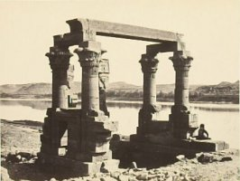 """The Temple of Wady Kardassy, Nubia,"" in the book Egypt and Palestine, 2 vols., by Francis Frith (London: James S. Virtue, 1858-1859); volume II of II"