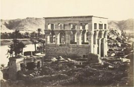 """'Pharaoh's Bed,' Philae, from the Great Temple,"" in the book Egypt and Palestine, 2 vols., by Francis Frith (London: James S. Virtue, 1858-1859); volume II of II"