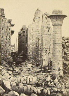 """Court of Shishak, Thebes,"" in the book Egypt and Palestine, 2 vols., by Francis Frith (London: James S. Virtue, 1858-1859); volume II of II"