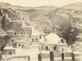 """The Convent of Mar-Saba, near Jerusalem,"" in the book Egypt and Palestine, 2 vols., by Francis Frith (London: James S. Virtue, 1858-1859); volume II of II"