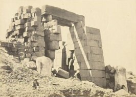 """The Granite Pylon, Karnac,"" in the book Egypt and Palestine, 2 vols., by Francis Frith (London: James S. Virtue, 1858-1859); volume II of II"