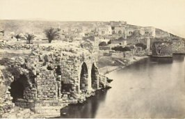 """Tiberias, from the South,"" in the book Egypt and Palestine, 2 vols., by Francis Frith (London: James S. Virtue, 1858-1859); volume II of II"