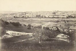 """Jerusalem, from the Mount of Olives. no. 1.,"" in the book Egypt and Palestine, 2 vols., by Francis Frith (London: James S. Virtue, 1858-1859); volume II of II"