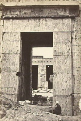 """Pylon Gateway at Medinet-Haboo.,"" in the book Egypt and Palestine, 2 vols., by Francis Frith (London: James S. Virtue, 1858-1859); volume II of II"